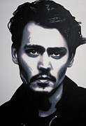 Depp Framed Prints - - Johnny - Framed Print by Luis Ludzska