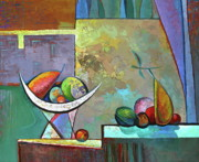 Harmony Painting Posters -   Still life with frutit Poster by Alexey Kvaratskheliya