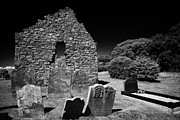 13th Century Photos - 13th Century Cranfield Church And Graveyard On The Shores Of Lough Neagh County Antrim by Joe Fox