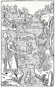Merman Photo Prints - 15th Century German Woodcut Print Print by Cci Archives