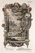 Adam Framed Prints - 1731 Johann Scheuchzer Creation Of Man Framed Print by Paul D Stewart