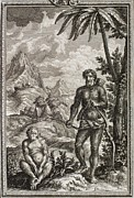 Creationist Framed Prints - 1731 Johann Scheuchzer Hairy Esau Bible Framed Print by Paul D Stewart