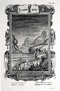 Noah Prints - 1731 Johann Scheuchzer Noahs Ark Flood Print by Paul D Stewart