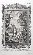 Creationism Framed Prints - 1731 Scheuchzer Creation Adam & Eve Framed Print by Paul D Stewart