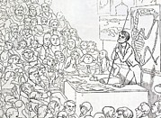Archetype Art - 1850 Richard Owen Zoologist Lecturing by Paul D Stewart