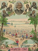 Race Discrimination Prints - 1883 Print Commemorating Print by Everett
