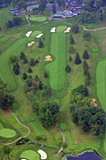 Plymouth Meeting Aerials Prints - 18th Hole Sunnybrook Golf Club Print by Duncan Pearson