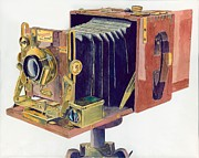 Camera Paintings - 1905 Sanderson Camera by Gary Roderer