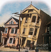California Earthquake Prints - 1906 San Francisco Earthquake Fire Print by Science Source
