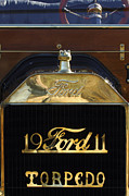 Ford Model T Car Posters - 1911 Ford Model T Torpedo Hood Ornament Poster by Jill Reger