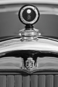 Historic Vehicle Photo Prints - 1926 Cadillac Series 314 Custom Hood Ornament Print by Jill Reger