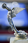 Collector Hood Ornaments Posters - 1928 Isotta Fraschini Tipo 8AS Landaulet Hood Ornament Poster by Jill Reger