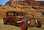 Ford Sedan Prints - 1930 Ford Sedan Rat Rod Print by Tim McCullough