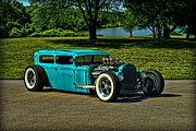 Model A Sedan Posters - 1931 Ford Model A Sedan Rat Rod Poster by Tim McCullough