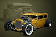 Ford Sedan Prints - 1931 Ford Sedan Rat Rod Print by Tim McCullough