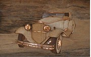 Car Reliefs - 1931 Packard convertible by Alok Mital