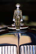 Historic Vehicle Photo Prints - 1934 Packard Hood Ornament 3 Print by Jill Reger