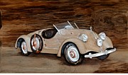 Vintage Reliefs - 1935 Mercedes Benz Sports by Alok Mital