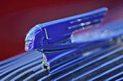 Historic Vehicle Photo Prints - 1936 Pontiac Hood Ornament 4 Print by Jill Reger