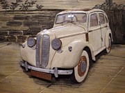 Transportation Reliefs - 1937 Hillman Minx restored by Alok Mital