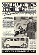 Plymouth Car Posters - 1937 Plymouth Poster by Nomad Art And  Design