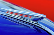 Historic Vehicle Photo Prints - 1938 Chevrolet Hood Ornament 2 Print by Jill Reger