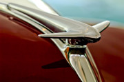 Collector Hood Ornament Posters - 1938 Lincoln Zephyr Hood Ornament Poster by Jill Reger