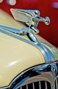 Historic Vehicle Photo Prints - 1940 Packard Hood Ornament Print by Jill Reger