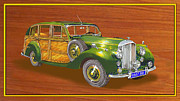Surfing Art Prints Posters - 1947 Bentley Shooting Brake Poster by Jack Pumphrey