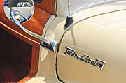 Country Photographs Photos - 1948 Chrysler Town and Country Sedan Emblem by Jill Reger