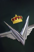 Collector Hood Ornament Posters - 1954 Chrysler Imperial Sedan Hood Ornament Poster by Jill Reger