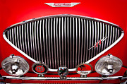 Classic Hood Ornaments Posters - 1955 Austin Healey 100-4 Poster by David Patterson