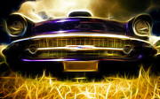 Custom Automobile Digital Art - 1957 Chevrolet Bel Air by Phil