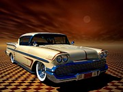 1958 Chevrolet Impala Prints - 1958 Chevrolet Impala Custom Low Rider Print by Tim McCullough