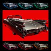 Transportation Digital Art Framed Prints - 1959 Cadillac Eldorado Convertible . Wing Angle Artwork Framed Print by Wingsdomain Art and Photography