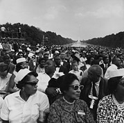 March On Washington Framed Prints - 1963 March On Washington. Crowd Framed Print by Everett