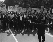 Activists Photo Framed Prints - 1963 March On Washington. Famous Civil Framed Print by Everett