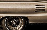 Red Line Prints - 1966 Dodge Coronet 500 Print by Gordon Dean II