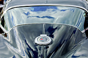 Auto Photography Framed Prints - 1967 Chevrolet Corvette Rear Emblem Framed Print by Jill Reger