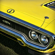 Collector Cars Digital Art Posters - 1971 Plymouth GTX 440 Poster by Gordon Dean II