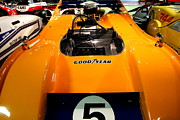 Domestic Car Photo Framed Prints - 1972 McLaren M20 Can-Am Race Car Framed Print by Wingsdomain Art and Photography