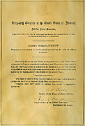 Autograph Framed Prints - 19th AMENDMENT, 1919 Framed Print by Granger