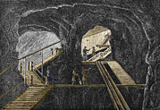 Simonin Prints - 19th-century Mining Print by Sheila Terry