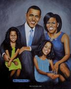 Politics Paintings - 1st Family by Henry Frison