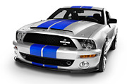 Mustang Framed Prints - 2008 Shelby Ford GT500KR Framed Print by Oleksiy Maksymenko