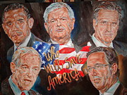 The President Of The United States Paintings - 2012 Presidential Candidates by Alex Krasky