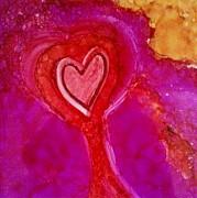 2nd Heart Print by Joyce Auteri