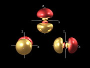 3p Electron Orbitals Print by Dr Mark J. Winter