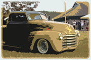 Chevy Pickup Prints - 50 Chevy Pickup Print by Steve McKinzie