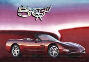 50th Anniversary Corvette Print by Rod Seel